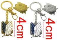 Free shipping Fashion style Popular cartoon Shingeki no Kyojin Attack on Titan Alloy  keychain hang buckle  wholesale