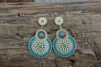 Y-X Latest Statement Vintage Earrings Of India Style Health Care Nickel Free Women Jewelry Leaves Earring 1204772