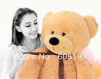 0037Free Shipping Teddy bear plush toy dolls 1.6meters long  babybear birthday gift the cute big Couple bear gifts, wholesale