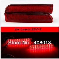 Car Red Lens LED Rear Bumper Reflectors Light Lamp Mitsubishi Lancer EX, V3 Rear Brake Tail Parking Warning Light Accessories