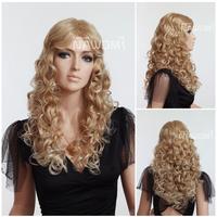 women long blonde curly wigs 3010B