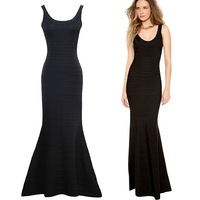 Free shipping new fashion Slim package hip long section of the fishtail dress