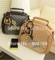 2014 new women PU doctor bags vintage one shoulder  mini handbag fashion women's horse decoration totes bag messenger
