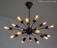 Free Shipping Classical Nostalgic Industrial Style Man-made Setellite Pendant Lights Vintage Art Spider Suspension Lamp 18 light