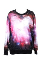 Factory custom New Women / Men realistic Milky Way galaxy print Pullover 3D t-shirts Sweatshirts Hoodies Galaxy sweaters Tops