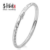 990 pure silver pure fine silver bracelet s990 pure silver bracelet hollow women's car flower platinum silver paragraph jihao
