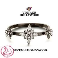 Limited ! Vintage Hollywood High Quality Shine Gem Bracelet Women's Fashion Bangles High Quality Accessories