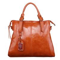 2014 hot sale ladies handbags fashion genuine leather handbag vintage oil painting bag women's handbag motorcycle bag