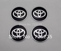 Wholesale New One Set Of 4pcs 55mm CAR Tyre Wheel Center Hub Cap Sticker Emblem Badge Decal Fit For TOYOTA  Black .1