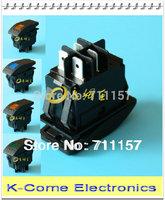 4pcs/lot 12V 20A  4 PIN Red Yellow Blue Green LED Light Rocker Switch DPST Boat switch Free Shipping