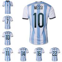 New 2014 World Cup Argentina home team soccer football jerseys t shirt sportswear equipment camisetas de futbol Thailand quality