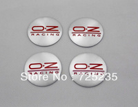 Wholesale New One Set Of 4pcs 55mm CAR Tyre Wheel Center Hub Cap Sticker Emblem Badge Decal Fit For O.Z RACING OZ RED