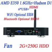 Wholesale Mini-iTX PCs with AMD APU E350D 1.6Ghz 2G RAM 250G HDD HDMI VGA 12V DC Watchdog 4-way input output GPIO support