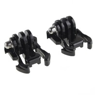 Wholesale 100PCS Buckle Basic Strap Mount Clips For GoPro Hero HD 1 2 3 Camcorder Camera Black  DHL Free Shipping