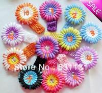 Free Shipping Wholesale Daisy Flower Headbands 50pcs/lot, Mixed Color