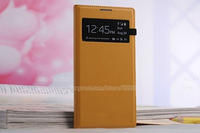 2014 New Fashion Flip PU Leather Smart case For Samsung Galaxy S4 I9500 Luxury Battery Hard Case Cover Free Shipping