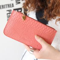 Min Order $20 (mixed order) 2014 fashion pendant of love crocodile pattern embossed zipper women's coin purse  (AI)