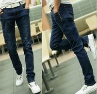 2014 Hot Sale Skinny Pencil Pants Solid Mid Cotton Zipper Fly Hot Sale Men Jeans Slim Fit Classic Pencil Pants Brand Mjcl03