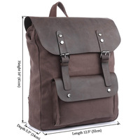 100% Genuine Crazy Horse Leather New Style Canvas and leather Men Travel bag Backpack