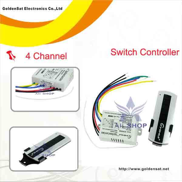 Wireless 4 Channel Light ON/OFF Remote Control Switch Switcher+Transmitter Chave de controle remoto interruptor de luz YTK0667(China (Mainland))