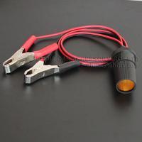 Battery clip cigarette lighter socket high power socket battery electric power cable copper 50cm