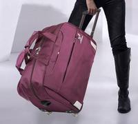 Handsome cool 2014 soft trolley luggage thickening nylon oxford fabric travel bag handbag large bag general