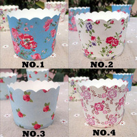 Flowers printed Series Wholesale High temperature mini cupcake liners Baking cupcake wrappers Muffin cases