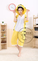 Summer with cute cartoon conjoined with short sleeves pajamas animal tiger household to take men and women