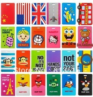 Free shipping 30 pcs/lot luggage tags Soft PVC 3D Luggage Tag airplane Travel Tag plastic tag label wholesale travel accessories