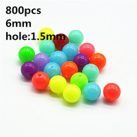 6mm about 2000pcs/lot free shipping plastic round candy color loose beads suit for DIY jewelry