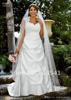 new white/ivory taffeta   wedding dress custom size