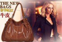 Hot sale Genuine leather bags 2014 retro shoulder bags cowhide women messenger bag totes designer handbag purse 258608