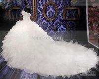 2014 new white/ivory  wedding dress custom size