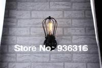 Free shipping Edison wall lamp  light wrought iron rustic living room wall lamp +Retro wall lamp  +E27 Base  + Free shipping