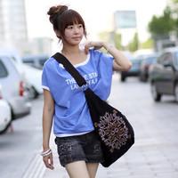 2013 national embroidery women's trend handbag canvas bag one shoulder cross-body bag dumplings  casual bag
