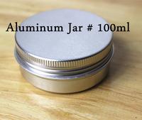 100Pcs100ML/100g 82*26mm Aluminum Cosmetic Box Cream Jar Free Shipping