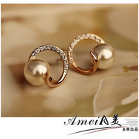 2014 NEW Pearl stud earring earrings female fashion anti-allergic accessories all-match exquisite 2013
