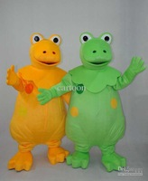 Yellow and Green Dinosaur Brothers Plush  Adult Size  cartoon  Mascot Costume Fancy Dress Animal mascot costume free shipping