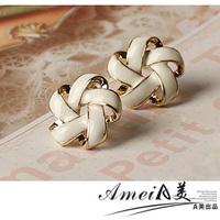 2014 NEW Oil stud earring female simple elegant fashion gentlewomen anti-allergic earrings accessories