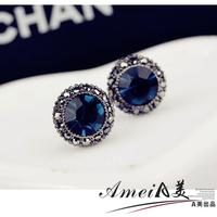 2014 NEW Stud earring female 2013 new arrival accessories elegant blue earrings anti-allergic