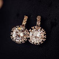 2014 NEW Platinum crystal zircon stud earring female fashion earrings accessories