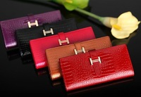 FREE SHIPPING classic long design women's genuine leather wallet high quality fashion purse for ladies hot selling