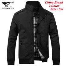 Осень Весна 2014 бренд SEPTWOLVES куртка стоять воротник куртки Мужская одежда поло куртки спортивные пальто плюс размер 4XL, 5XL(China (Mainland))