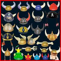 Halloween horn hat, pirates hat, the devil horseman hat, angel glow fencing helmet helmet, football fans cheer helmet