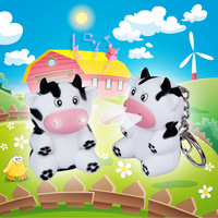 Bs-106 cow style led animal luminous keychain vocalization child gift