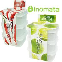 Inomata mini square transparent plastic sealed box plastic box 3 r229  (The minimum order amount $10)