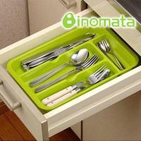 Inomata drawer cutlery tray finishing wheel chopsticks spoon storage tray storage box  (The minimum order amount $10)