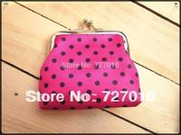 DOT satin foam +metal frame clutch purse coin purse small Tower button bag 12pcs mix color