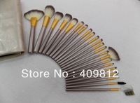 New 22 pieces professional makeup brushes make up cosmetic flat top foundaiton brushes set eyeshadow brush