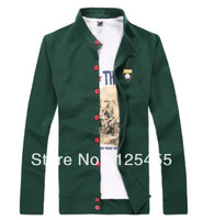 New Men Autumn Korean style stand-collar Slim sweater jacket Coat M-XXXL